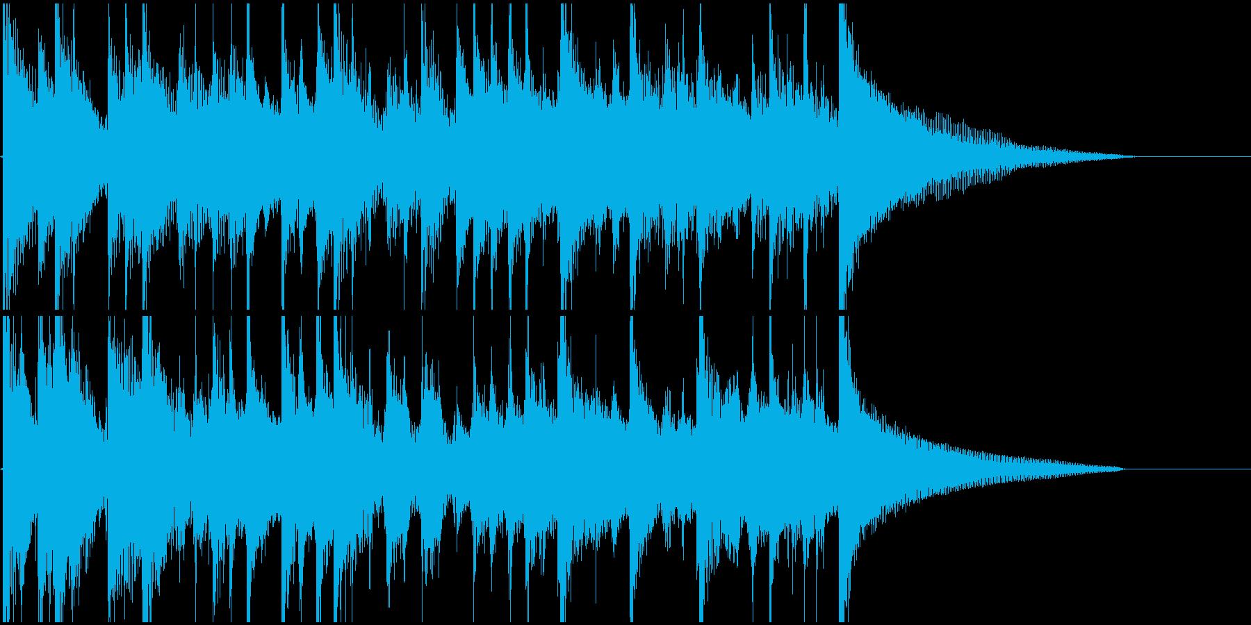 ラテン風ジングルの再生済みの波形