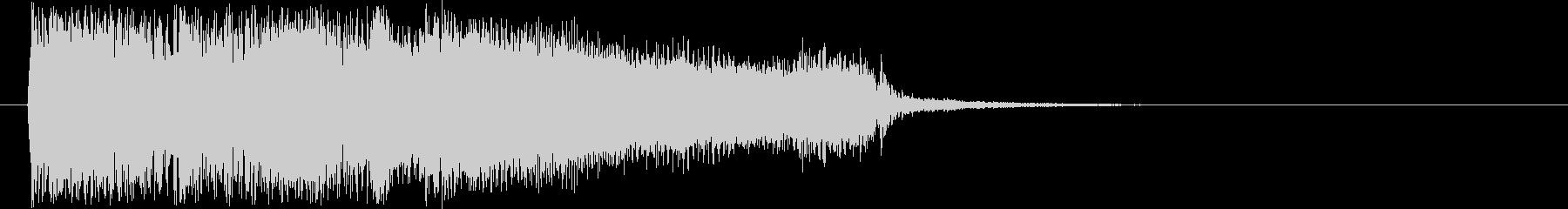 勢いのあるギターロック短めジングルの未再生の波形