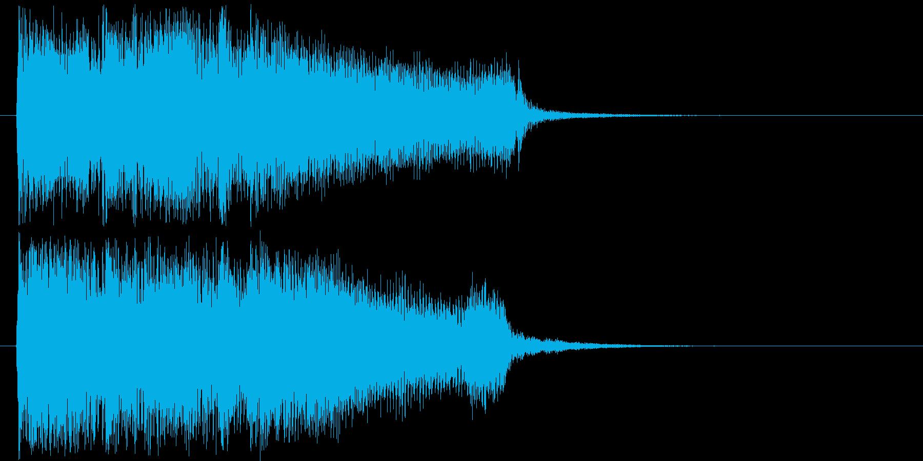 勢いのあるギターロック短めジングルの再生済みの波形
