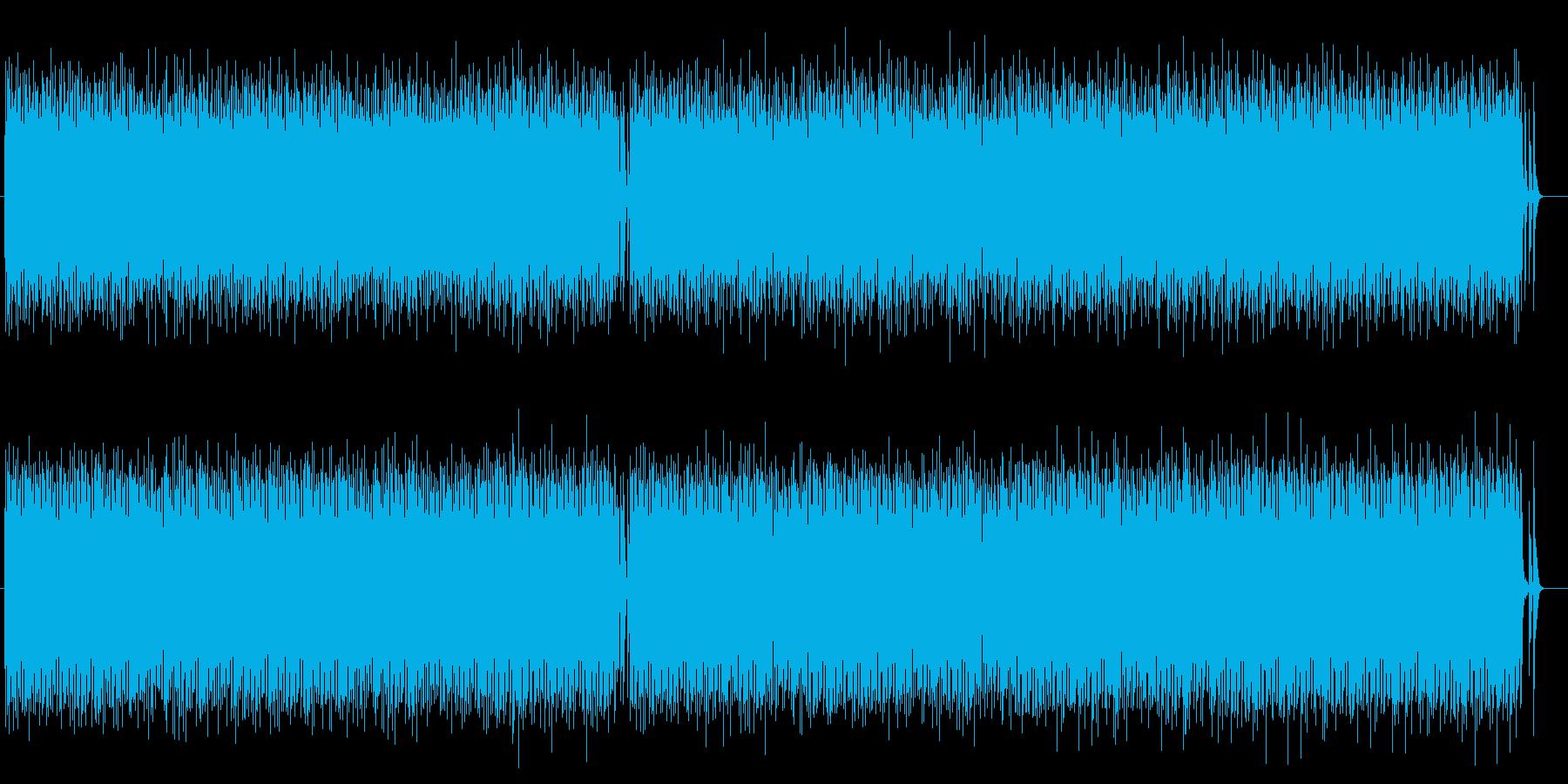明るくコミカルなシンセサイザーテクノの再生済みの波形