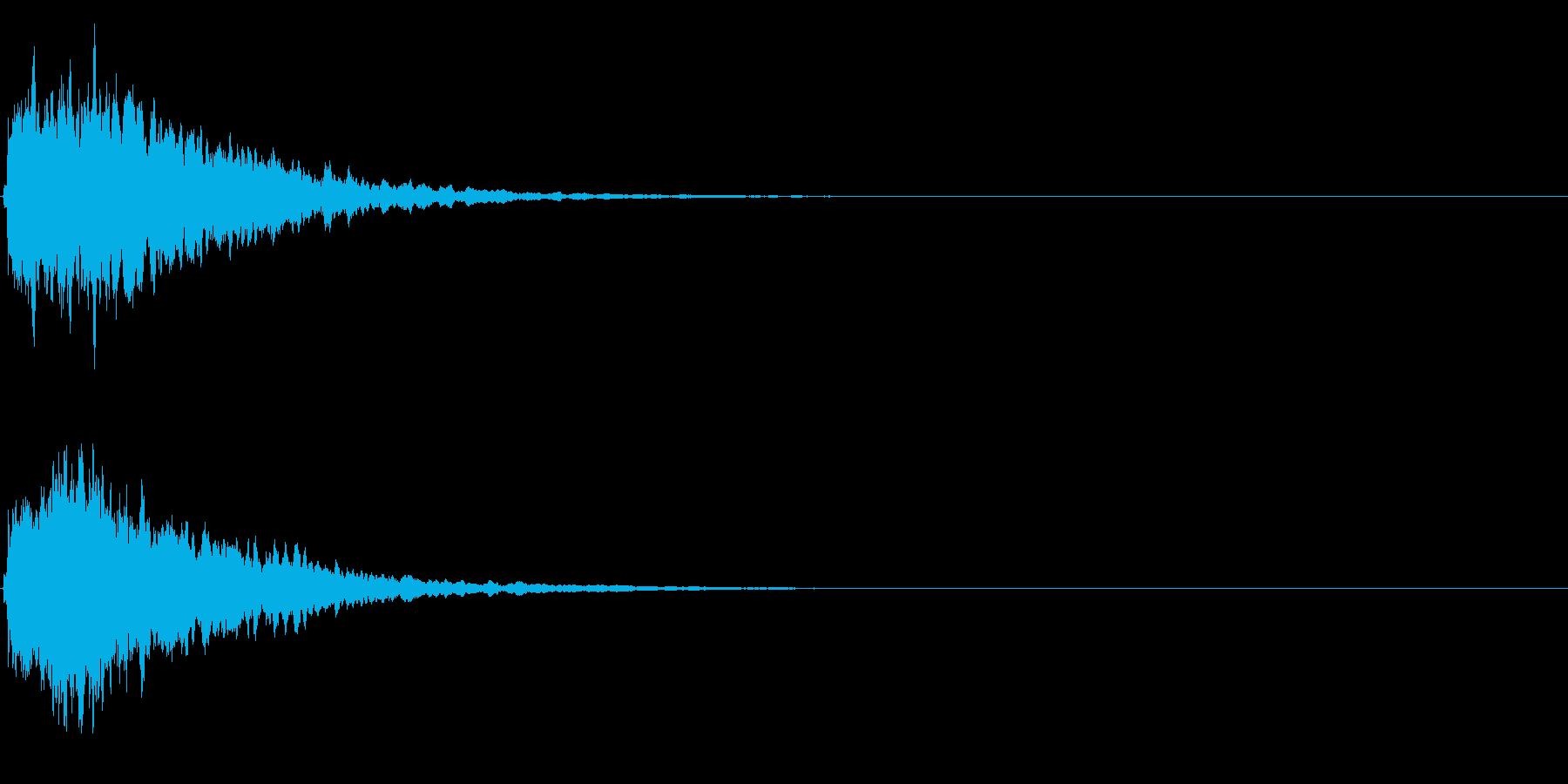 ゲームスタート、決定、ボタン音-087の再生済みの波形