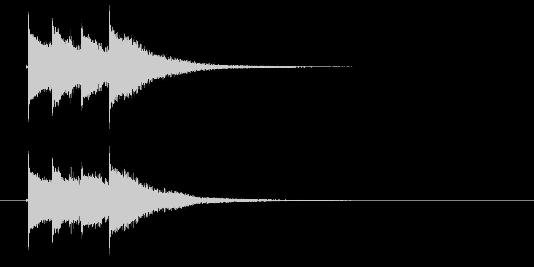テュラララン(ひらめき音)の未再生の波形