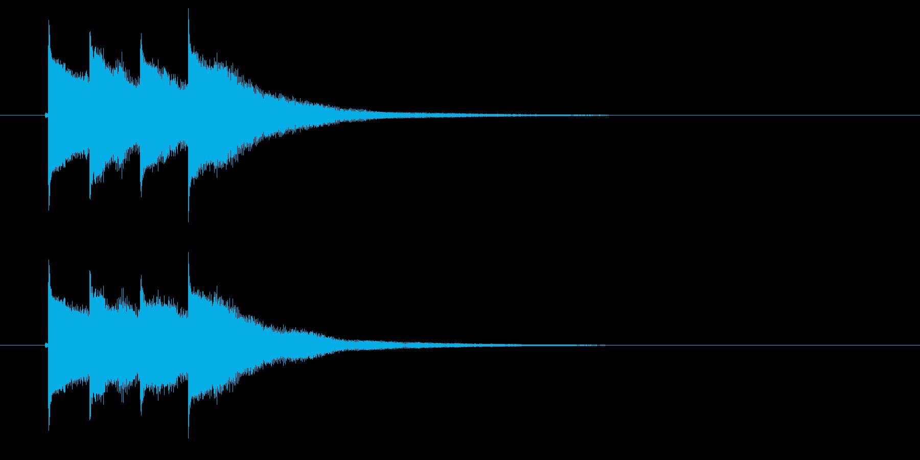 テュラララン(ひらめき音)の再生済みの波形