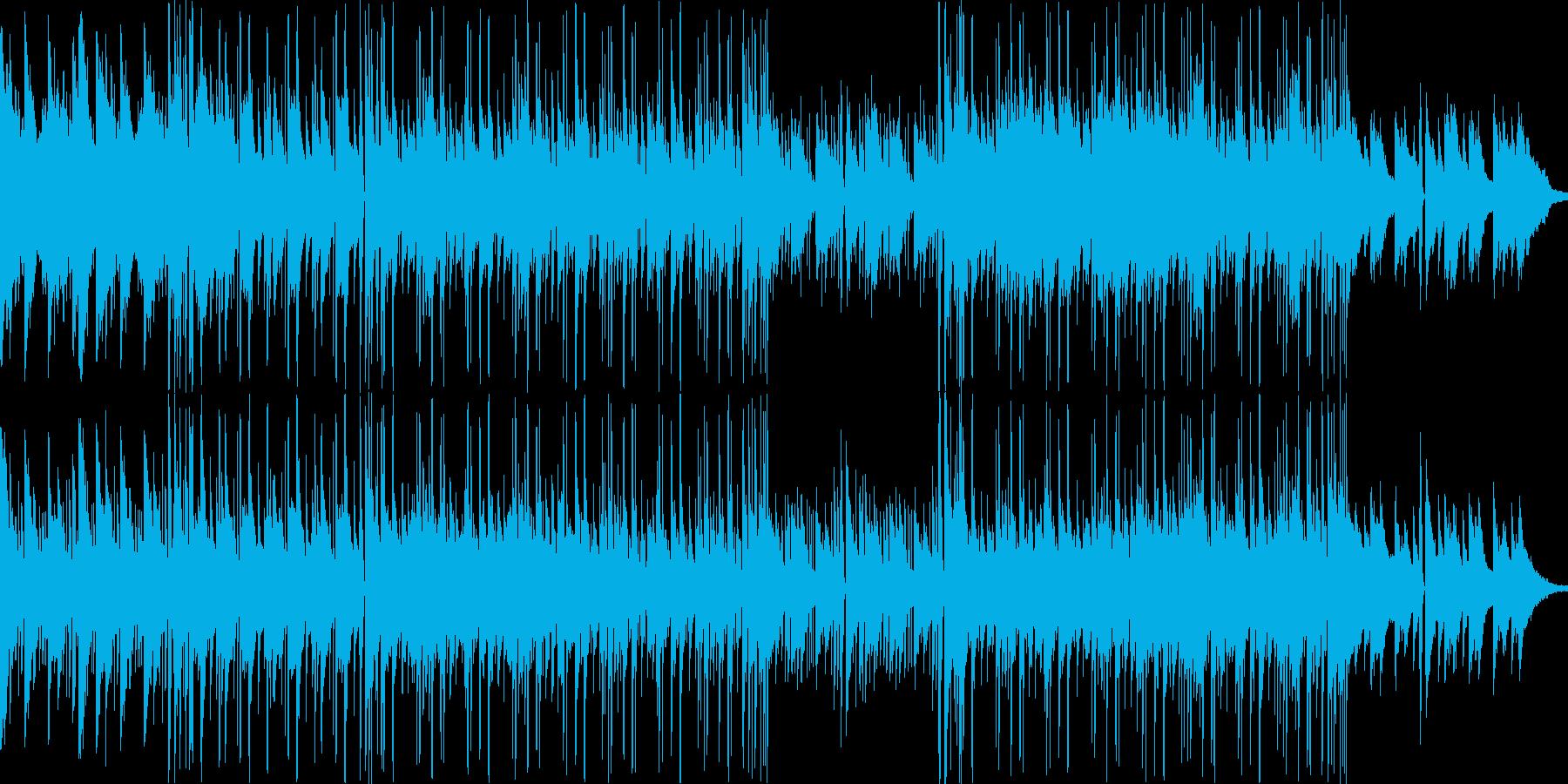 格調の高い穏やかな日常系BGMの再生済みの波形