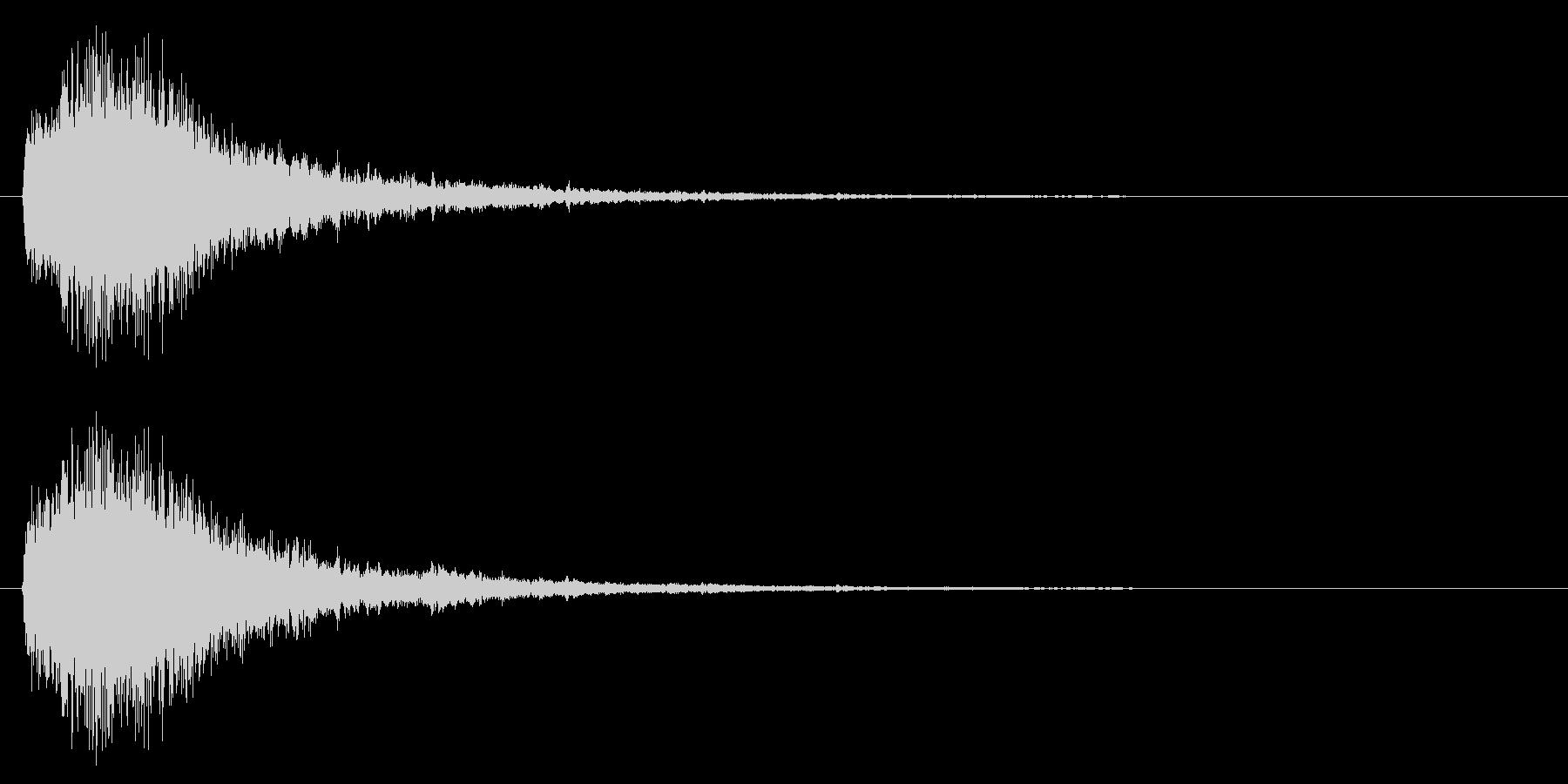 下降系/決定音/SFの未再生の波形