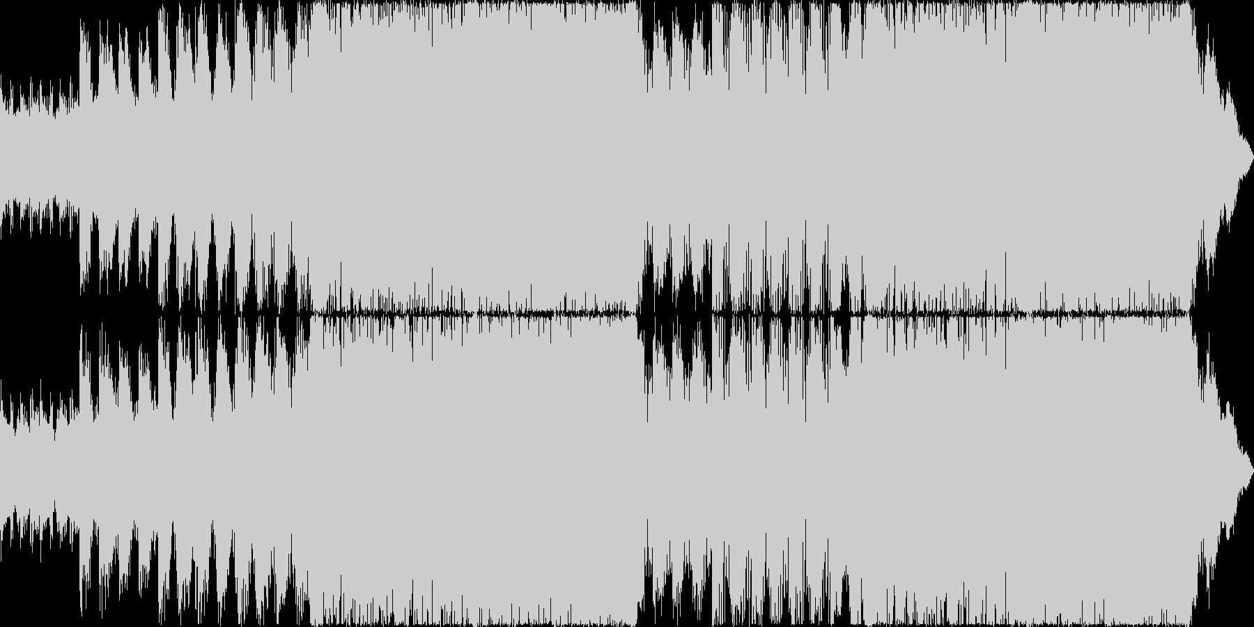 ピアノとテクノドラムの戦闘曲の未再生の波形