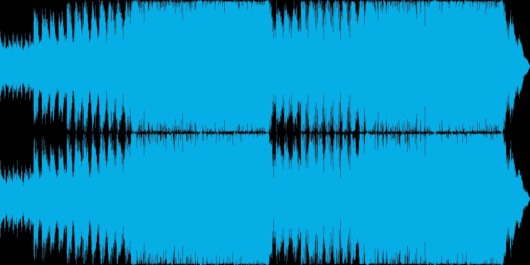 ピアノとテクノドラムの戦闘曲の再生済みの波形