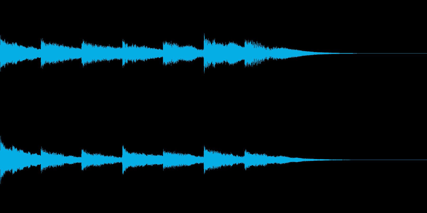 優しいチャイム風サウンドロゴの再生済みの波形