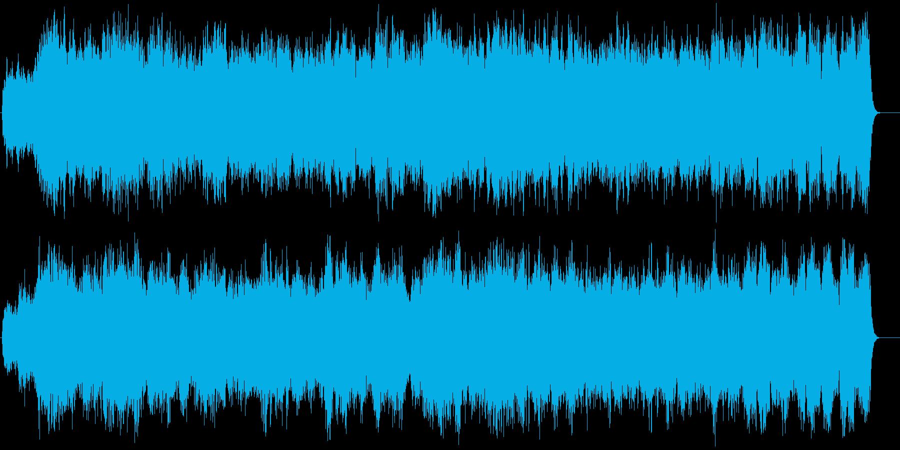 神秘的な世界が広がるネイチャー系サウンドの再生済みの波形