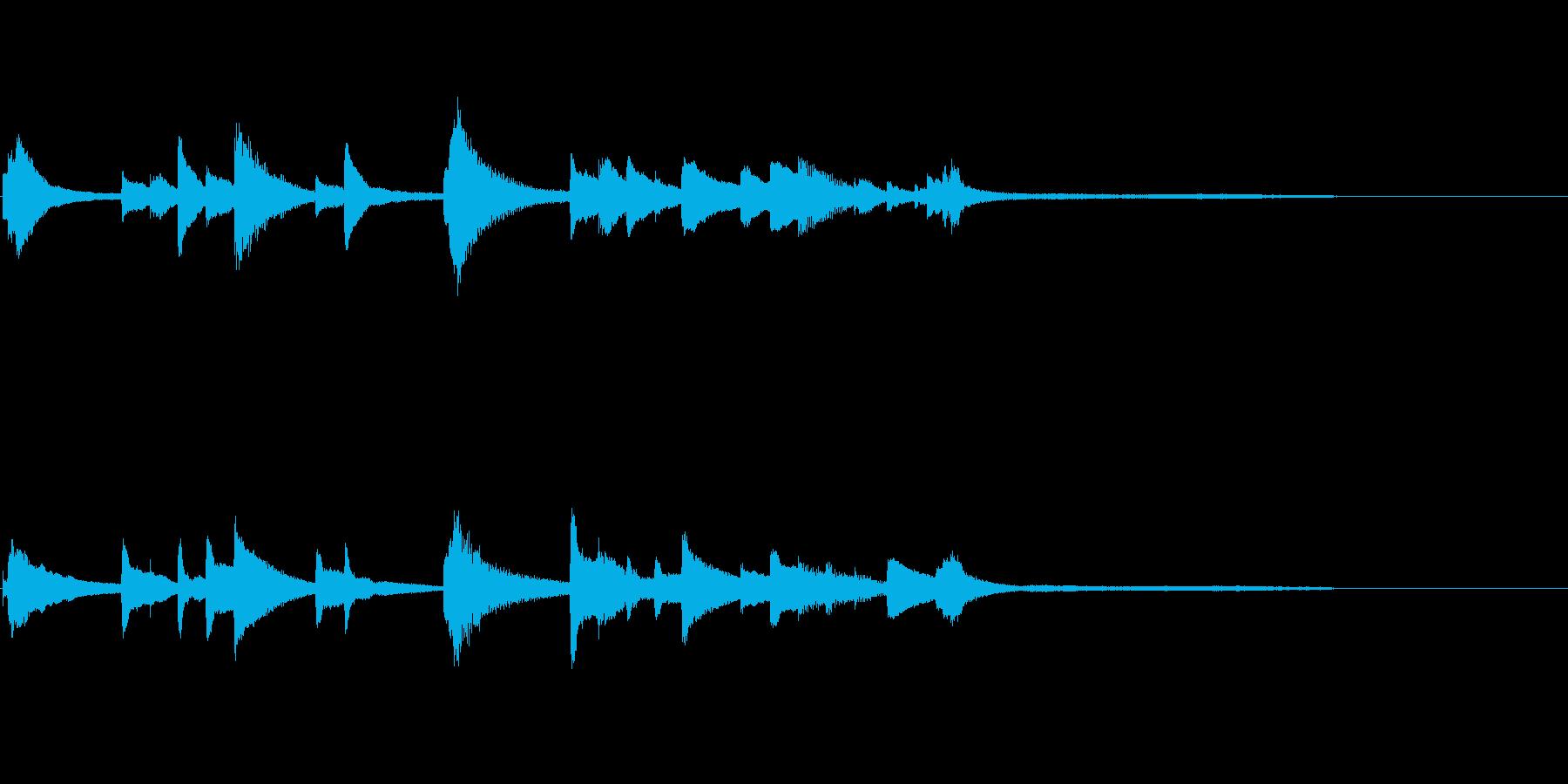 場面転換に適したピアノソロ曲の再生済みの波形