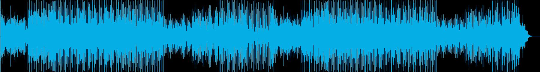 ダンサンブルなスウィングジャズの曲です。の再生済みの波形