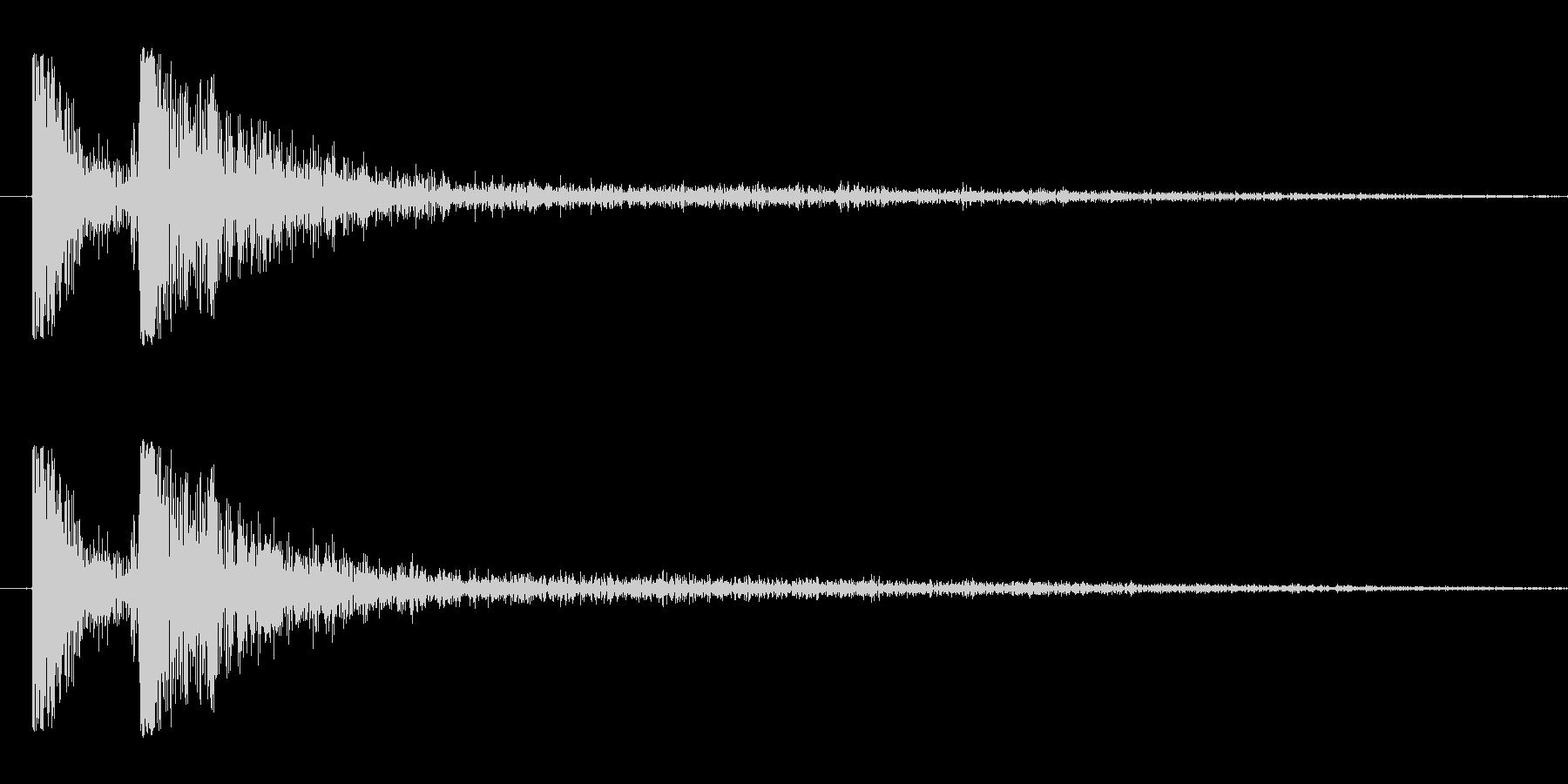 将棋の駒を打つ音ショートバージョンの未再生の波形