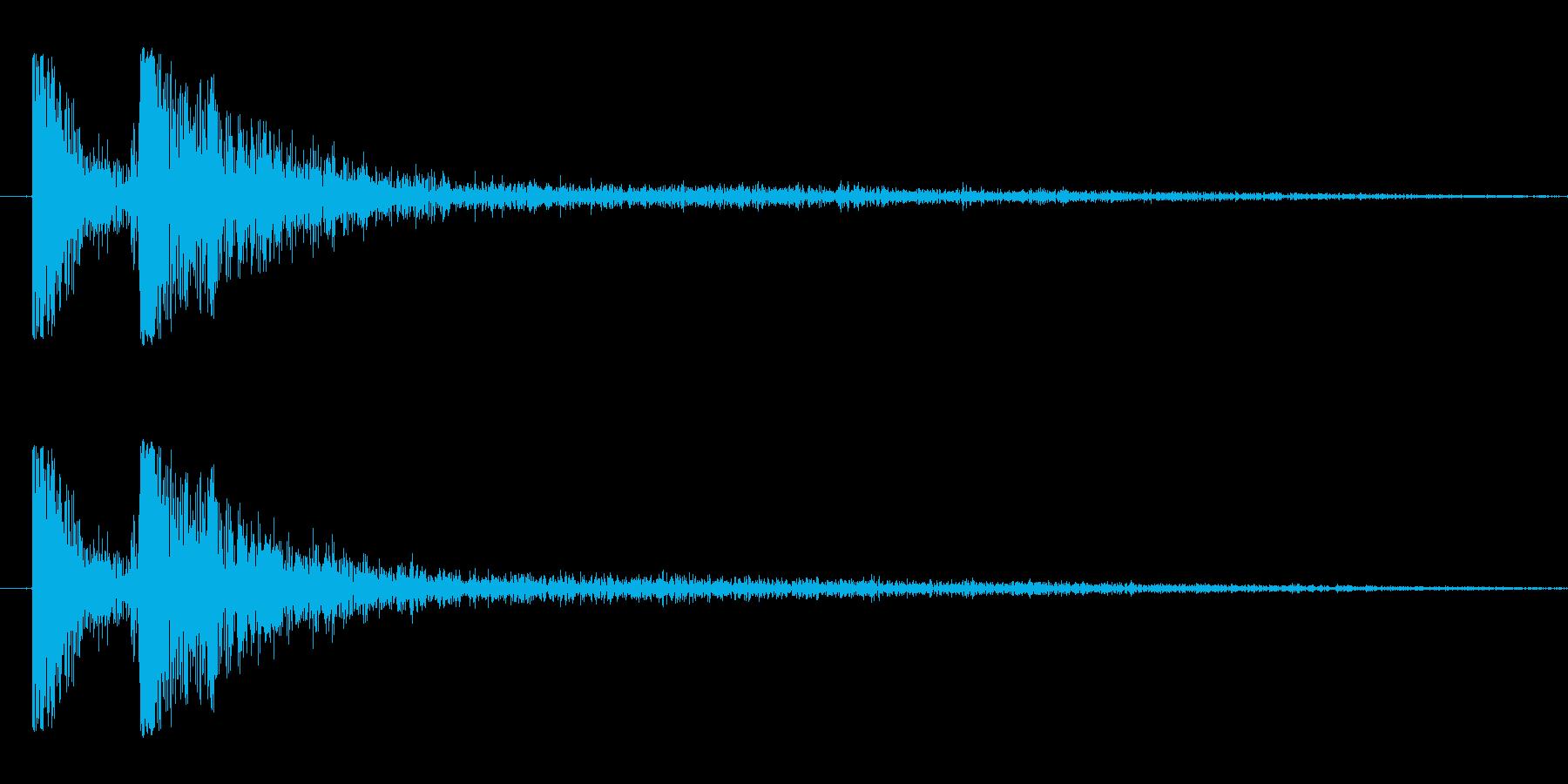 将棋の駒を打つ音ショートバージョンの再生済みの波形