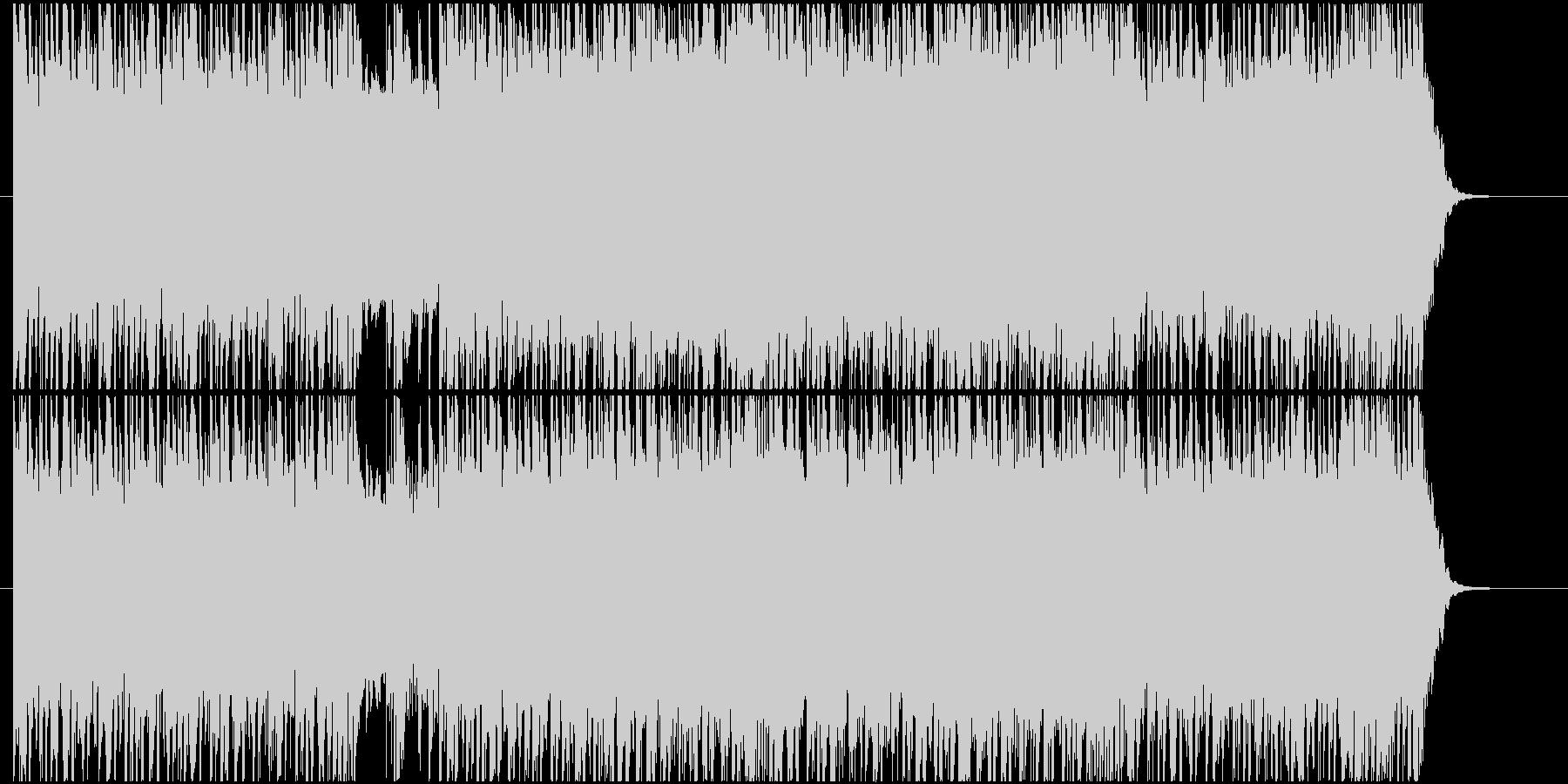 疾走感ある激しいギターロックの未再生の波形