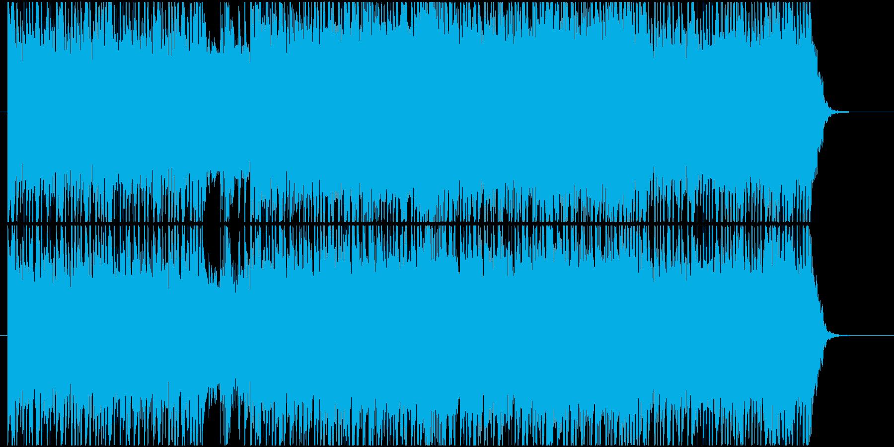 疾走感ある激しいギターロックの再生済みの波形