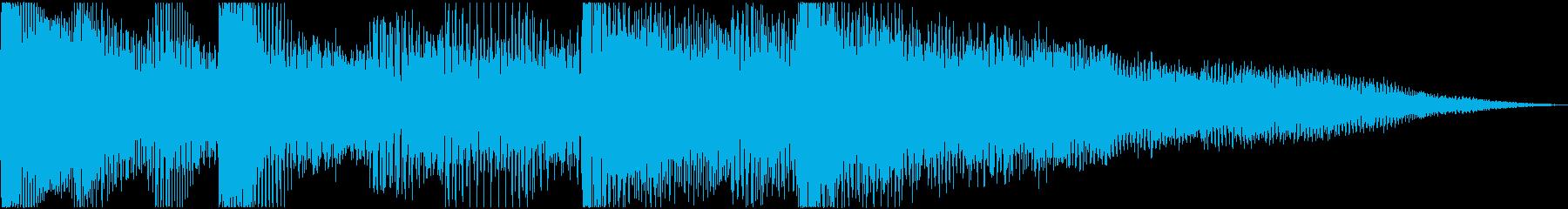 pop synth soundの再生済みの波形