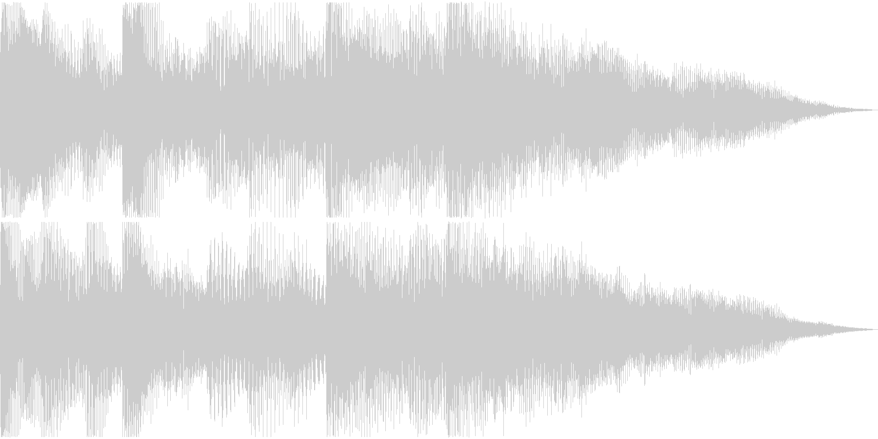pop synth soundの未再生の波形