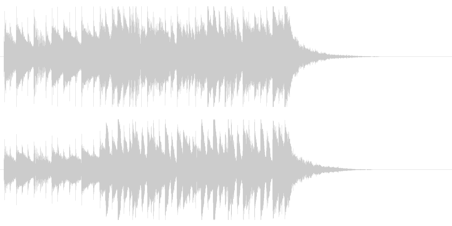オープニングジングル映像向わくわくピアノの未再生の波形