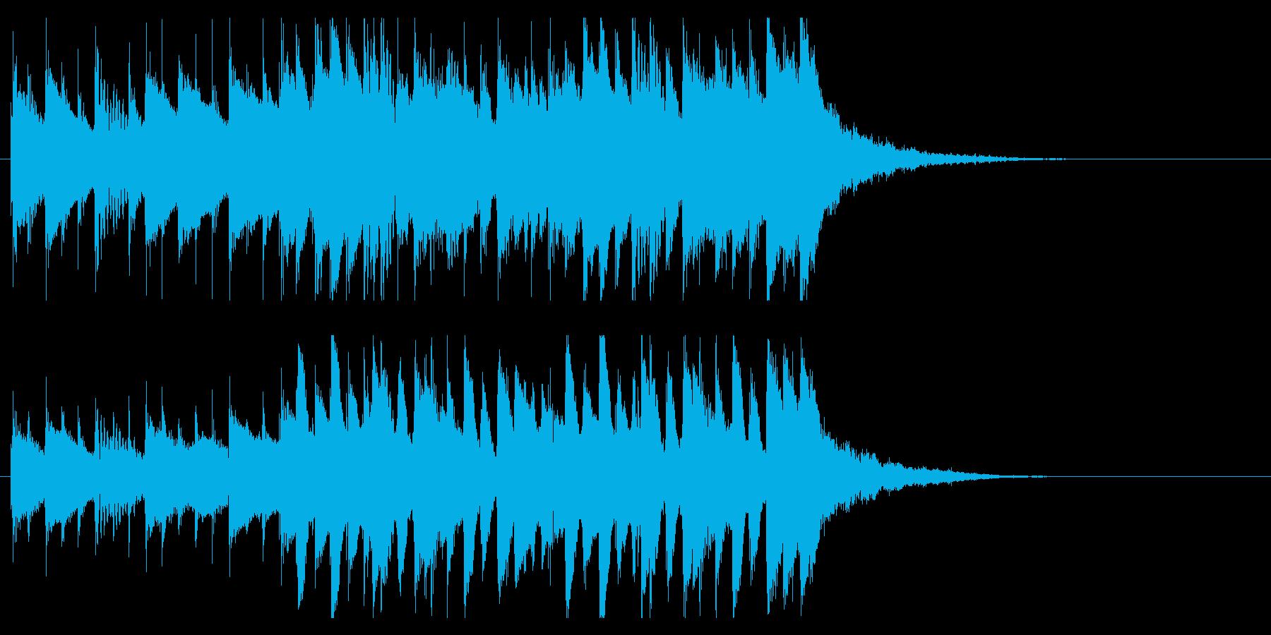 オープニングジングル映像向わくわくピアノの再生済みの波形
