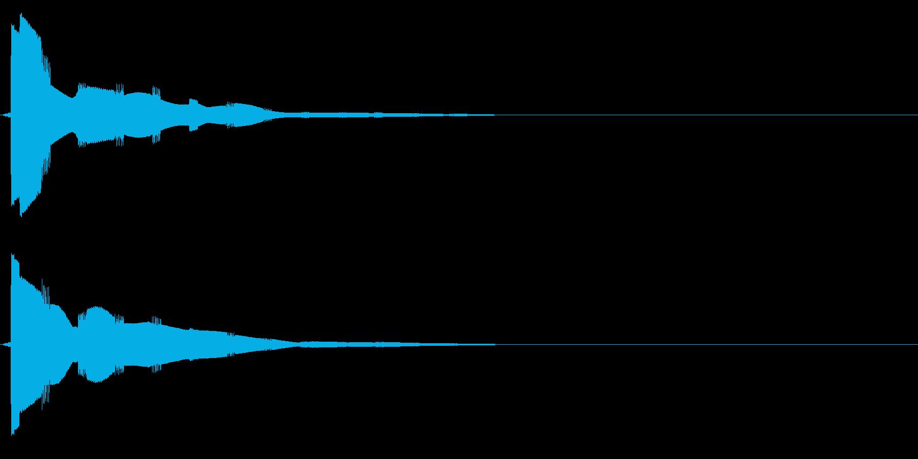 ピロリロリロリロ・・・(決定音、取得音)の再生済みの波形
