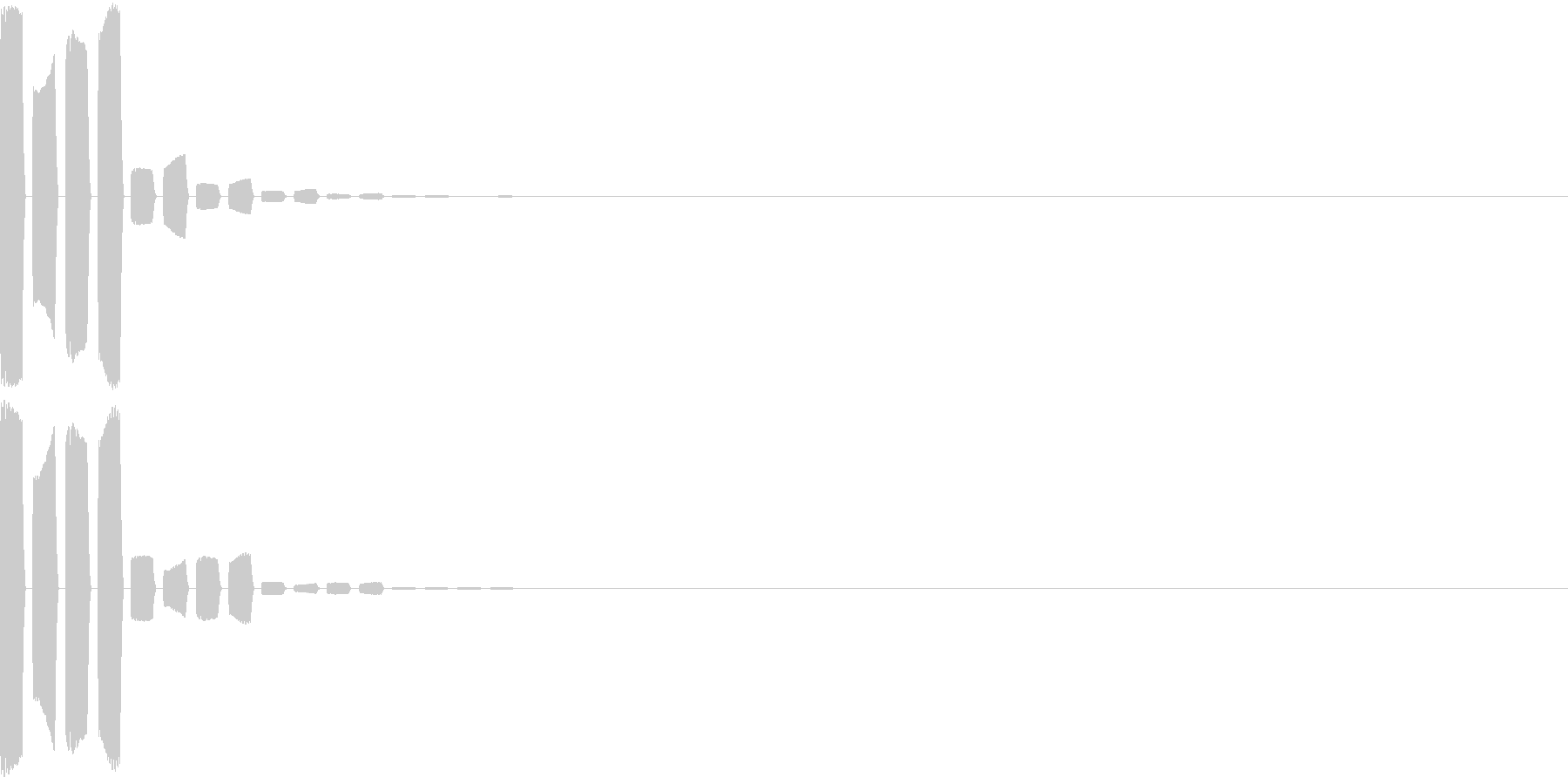 Bell ファミレスの注文ボタンの音 2の未再生の波形