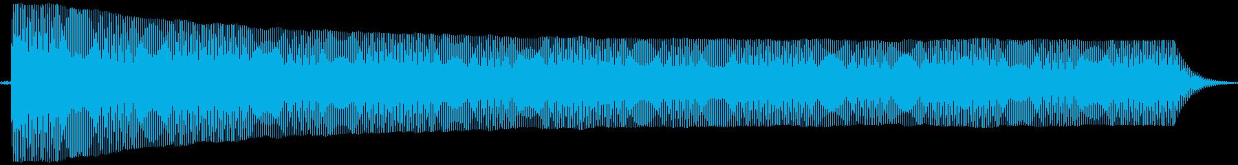 プヨヨ。言葉を伏せる音(高・短)の再生済みの波形