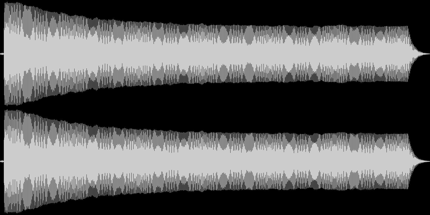 プヨヨ。言葉を伏せる音(高・短)の未再生の波形