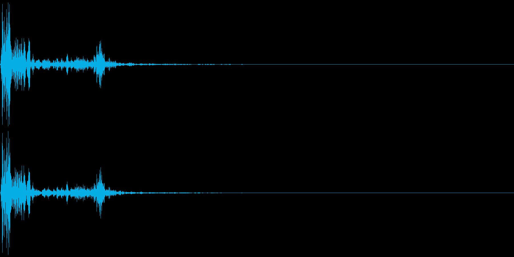 ゲームの効果音 カウッの再生済みの波形