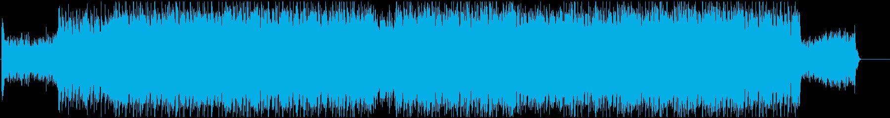 スピード感あってダイナミックな音楽の再生済みの波形