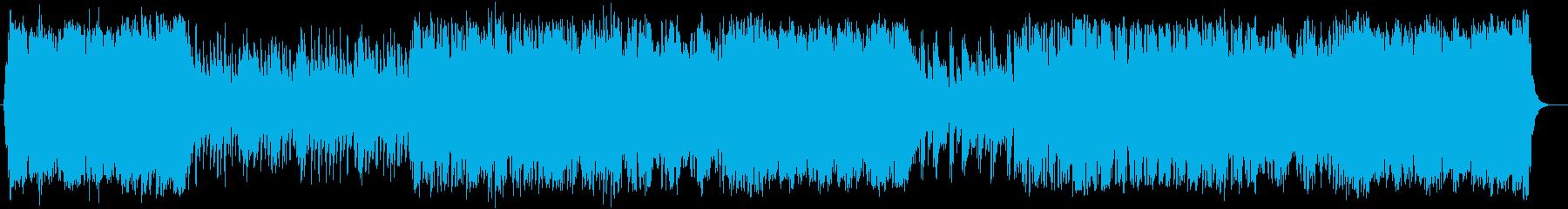元気のある前向きで壮大なアップテンポの音の再生済みの波形