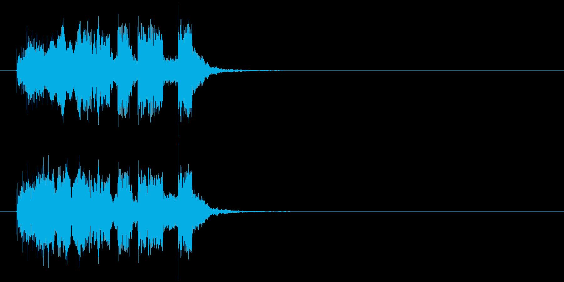 爽やかなシンセのジングル、サウンドロゴの再生済みの波形
