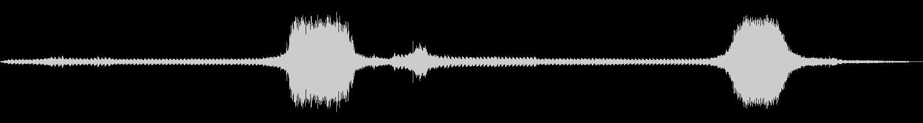【環境音】踏切の音の未再生の波形