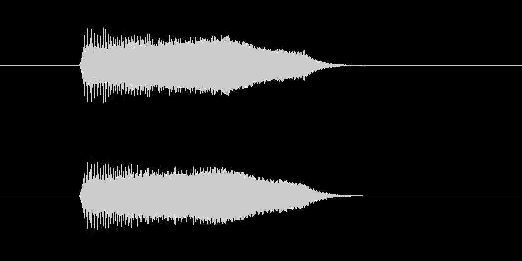 チューイン(宇宙、飛ぶ、回転)の未再生の波形