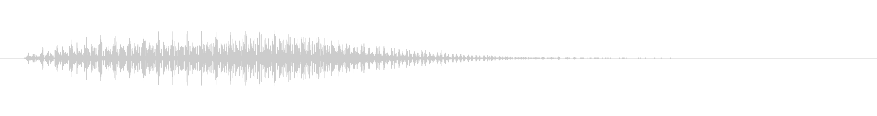 カートゥーン系の忍び足のような効果音の未再生の波形