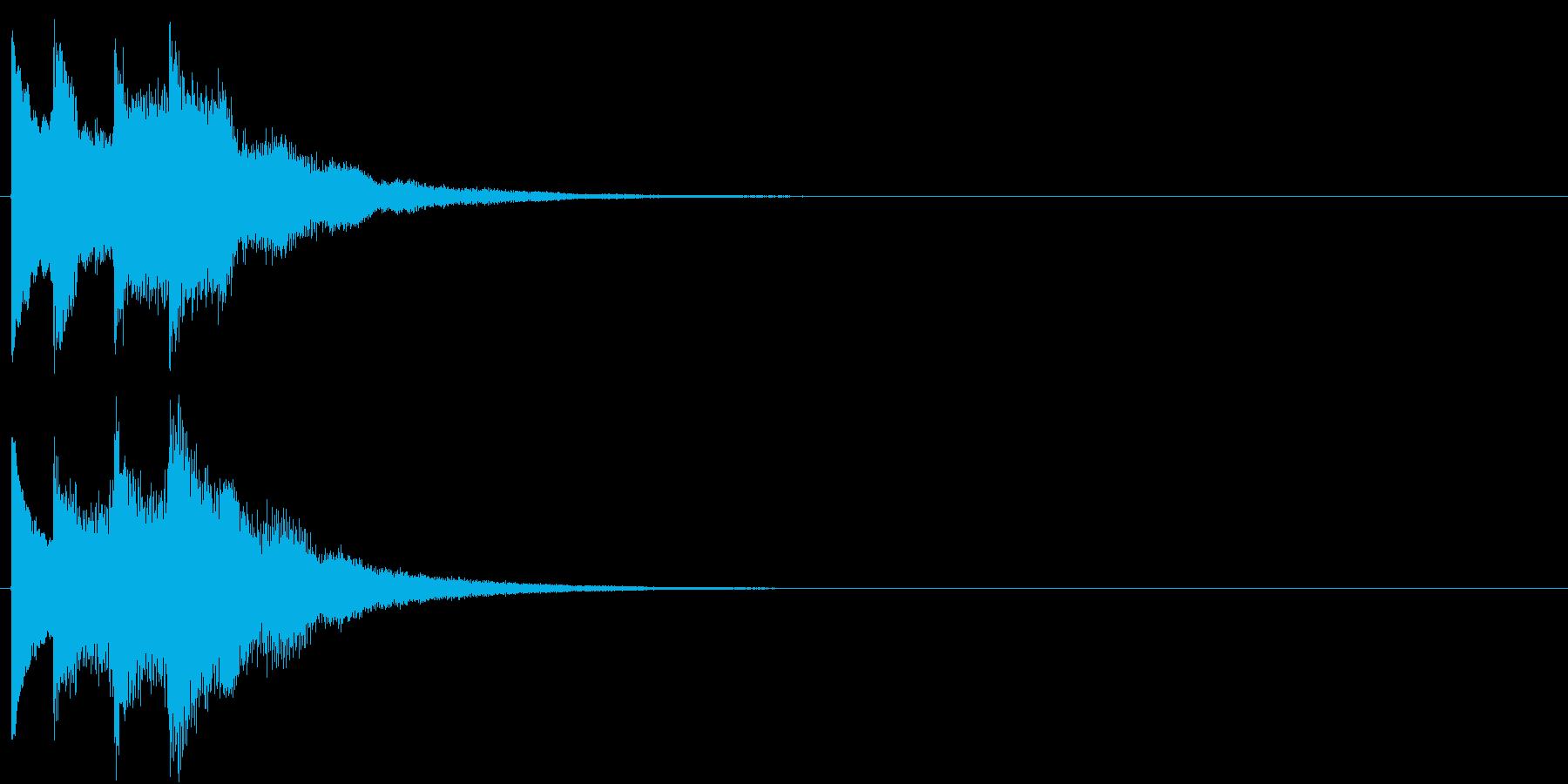 ゆっくり 現れる キラキラ 煌めきの再生済みの波形
