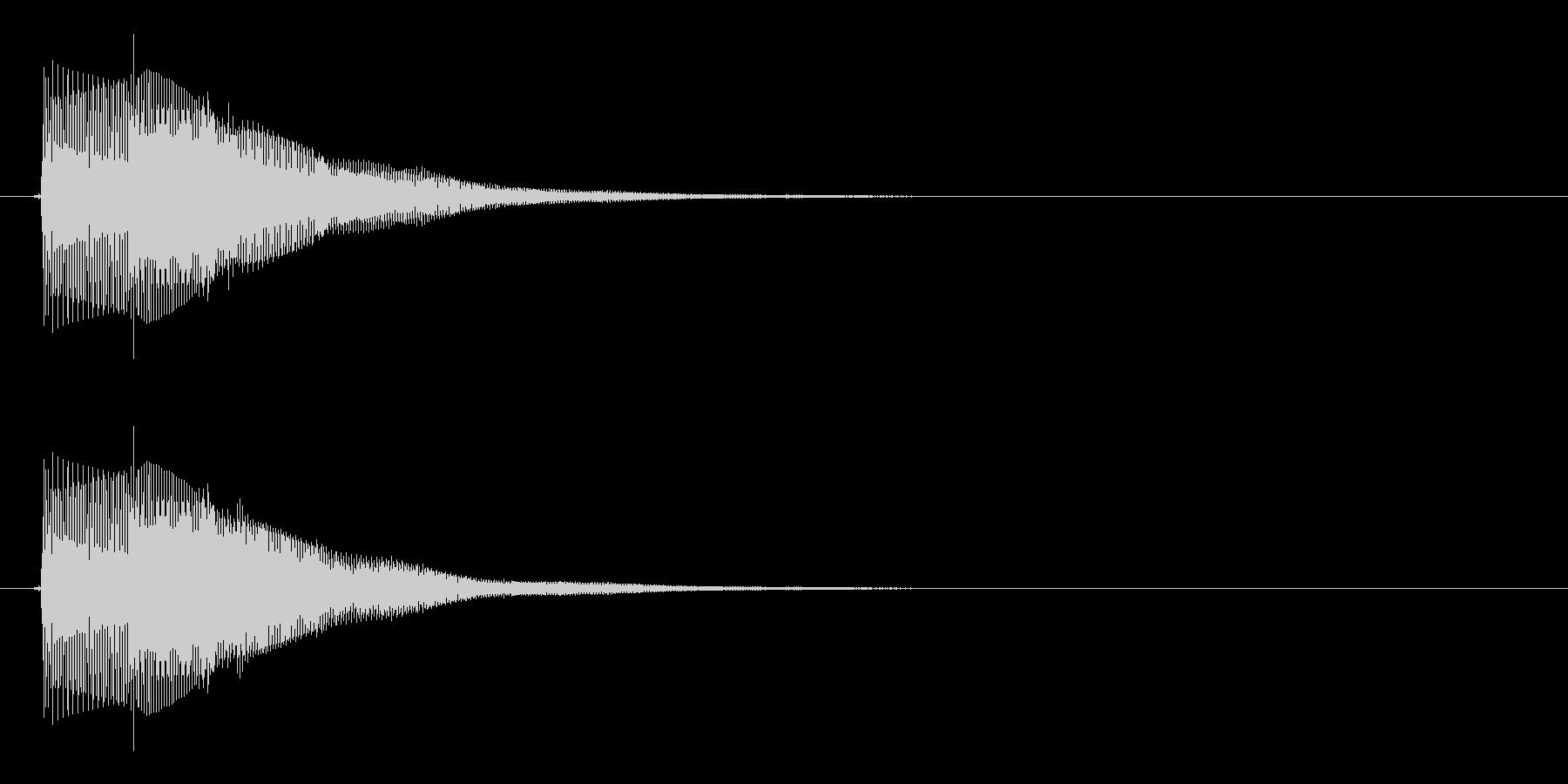 シンプルなボタン音14(タラン↑)の未再生の波形