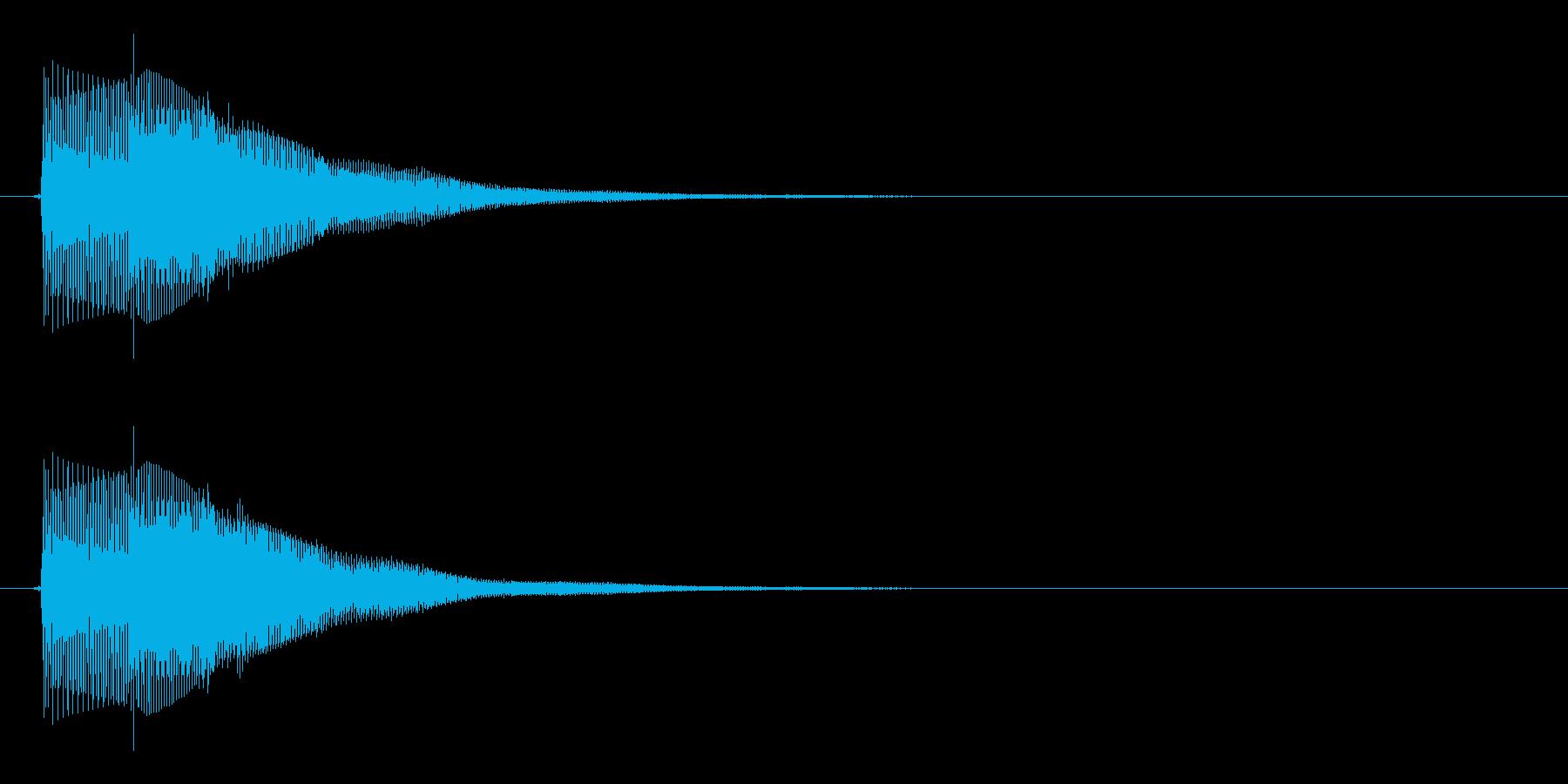シンプルなボタン音14(タラン↑)の再生済みの波形