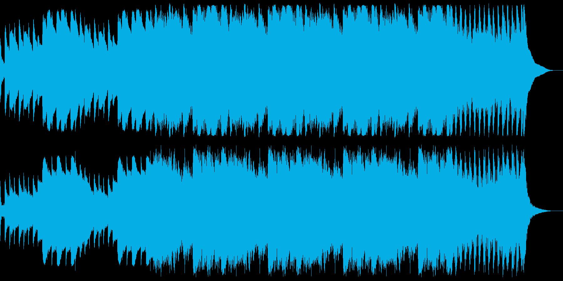 幻想的なオープニング曲の再生済みの波形