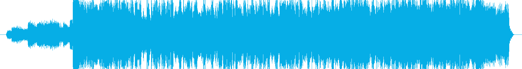 ハロウィンの雰囲気のEDMジングルの再生済みの波形