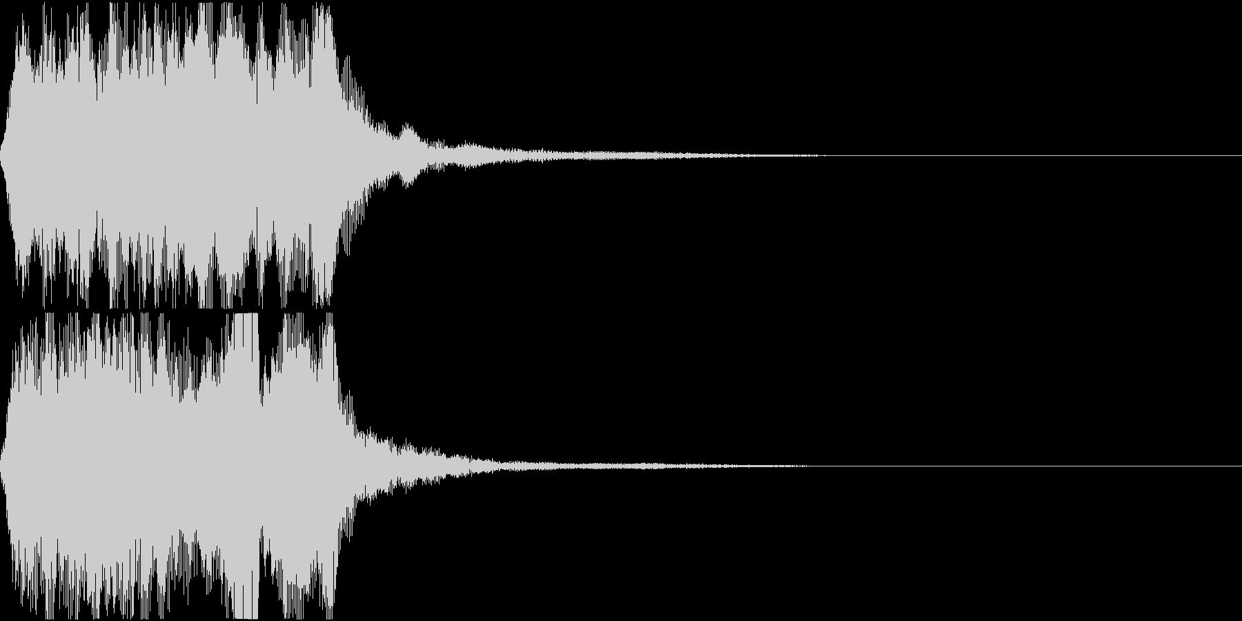 ラッパ ファンファーレ 定番 22 早いの未再生の波形