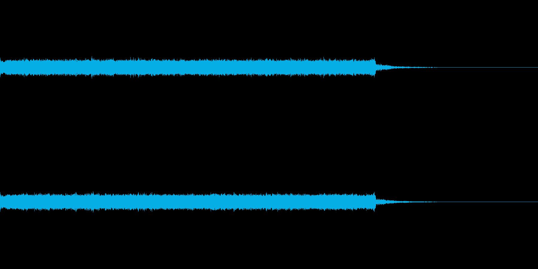 ピロピロピコピコ音の再生済みの波形