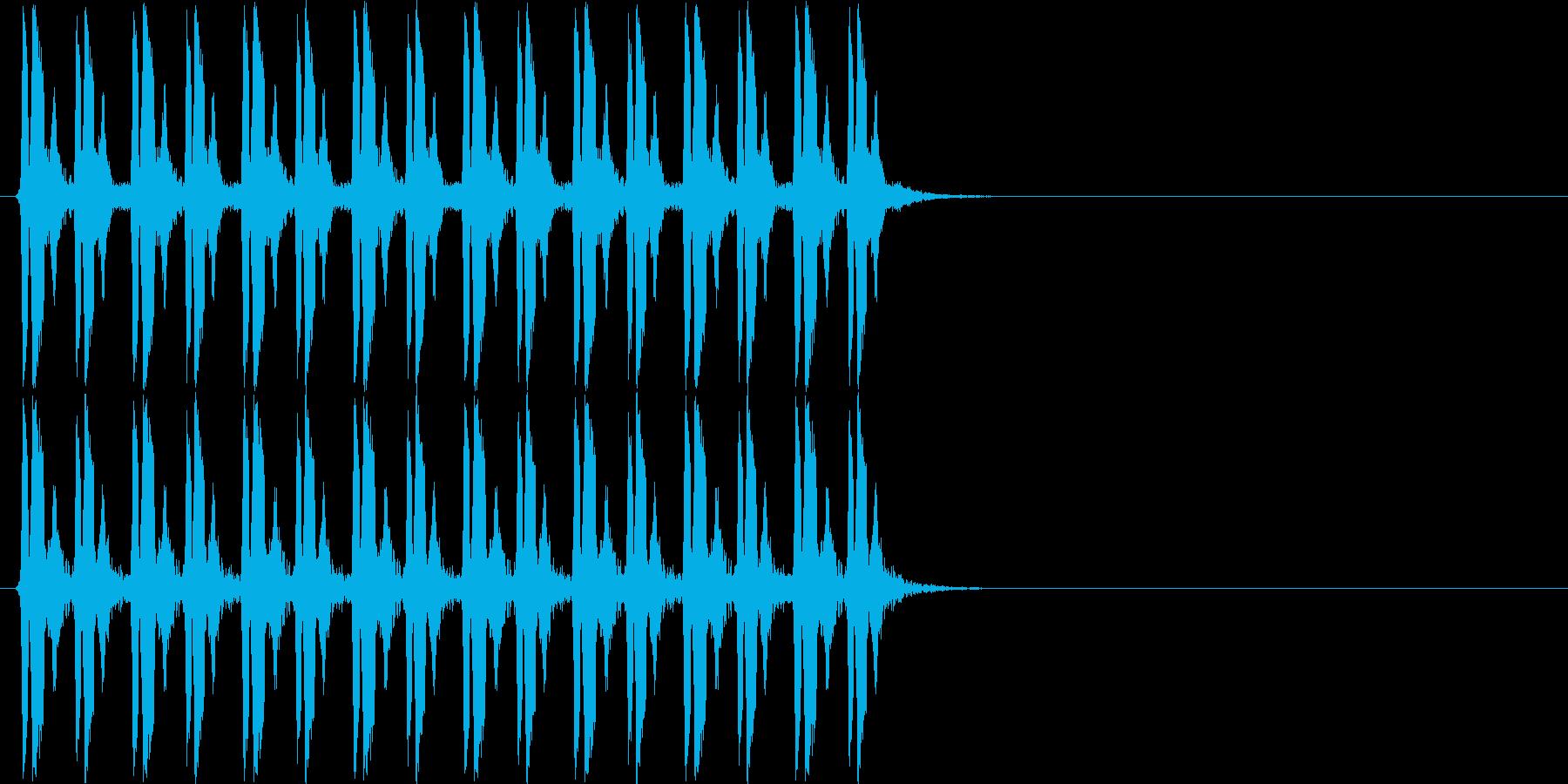 ピヨピヨピヨピヨ×2(混乱状態)の再生済みの波形