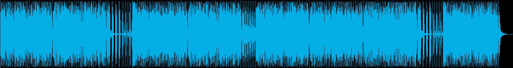 木魚のリズムが楽しい和風ポップスの再生済みの波形