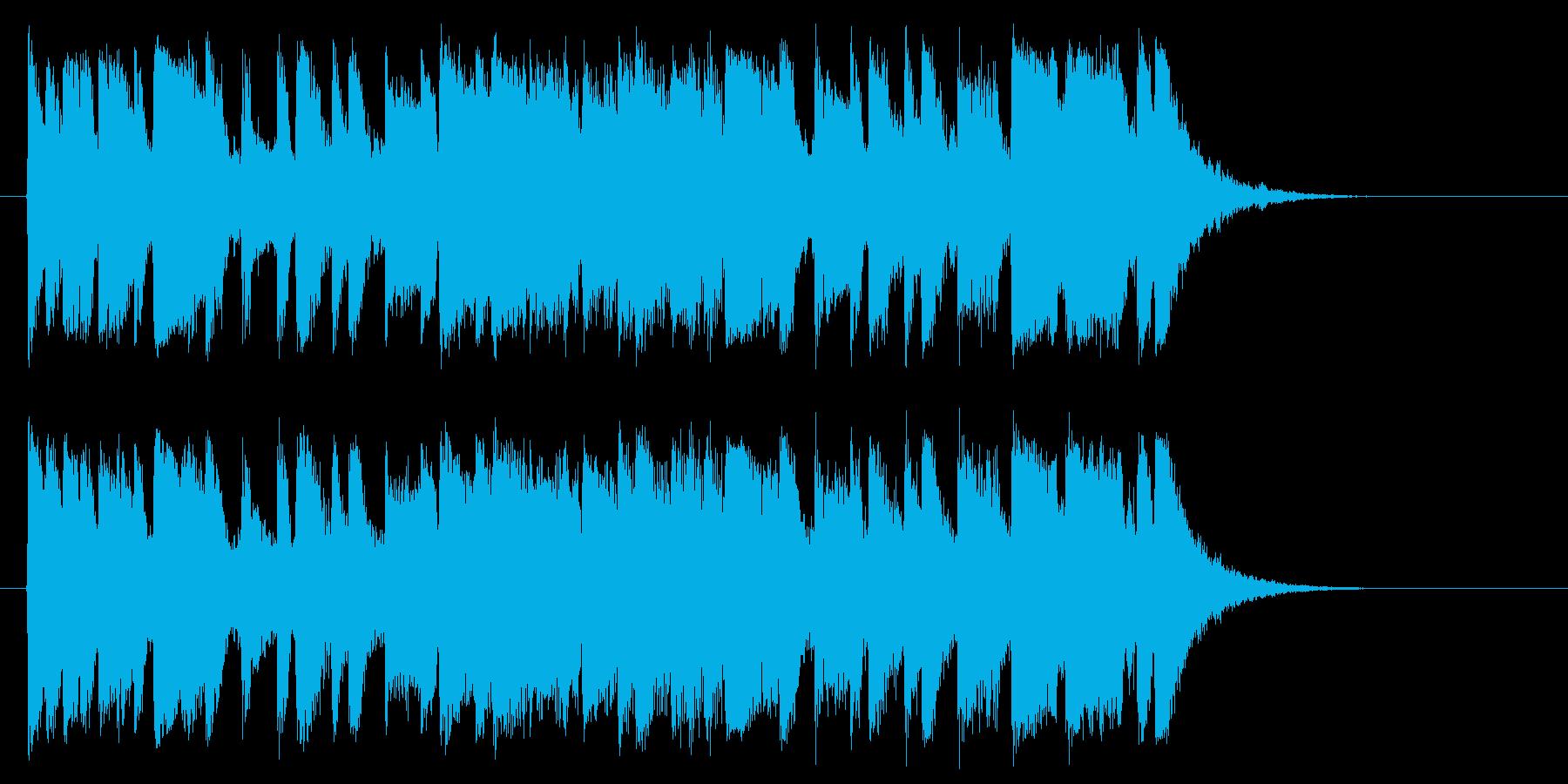 アップテンポなポップスのバンドのジングルの再生済みの波形
