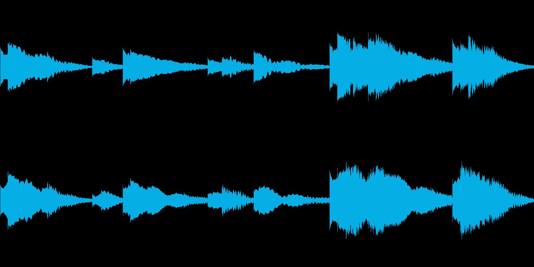幻想的なハープの音ですの再生済みの波形