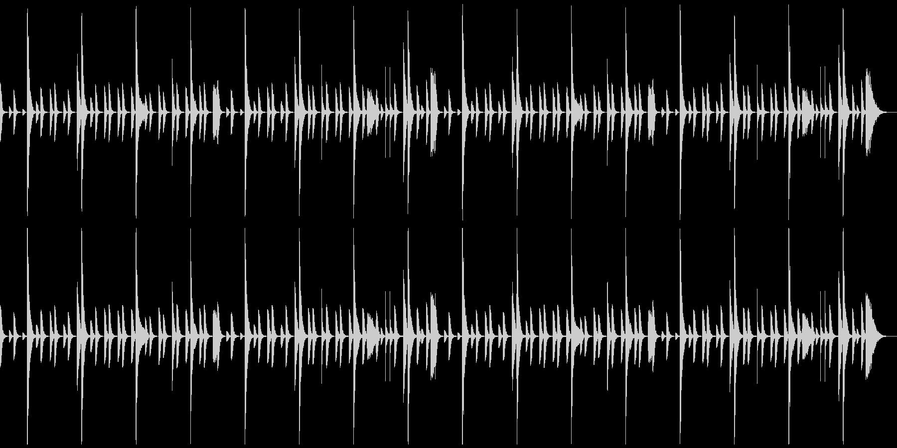 レゲエのリズムパターン2の未再生の波形