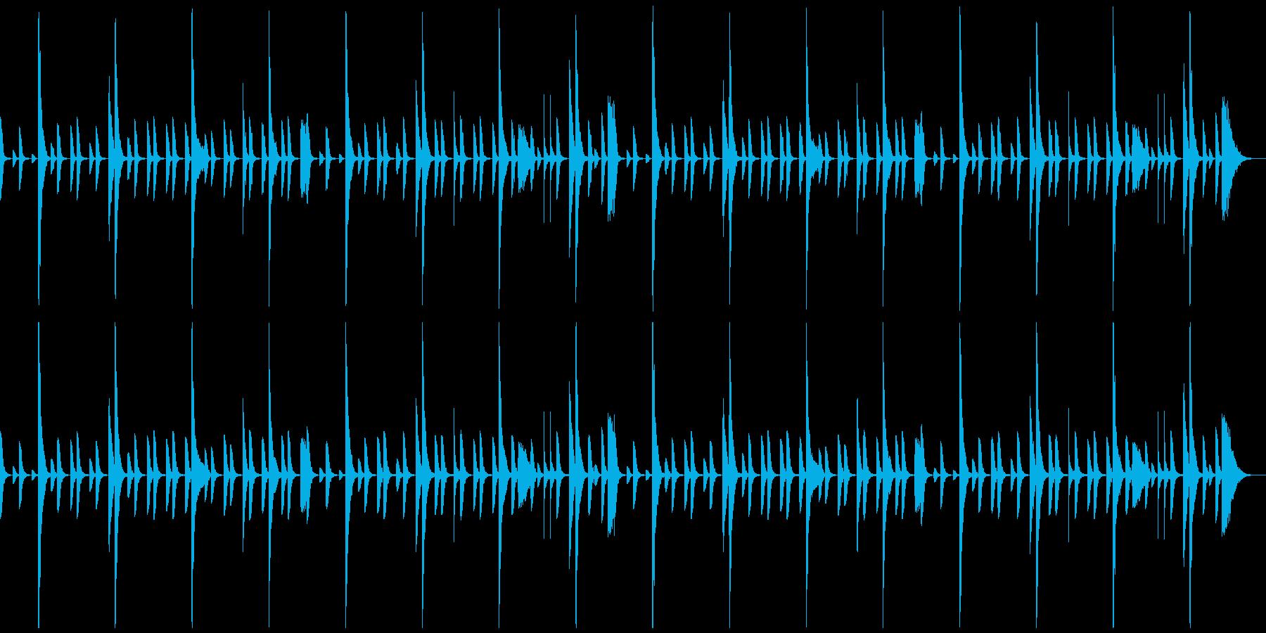 レゲエのリズムパターン2の再生済みの波形