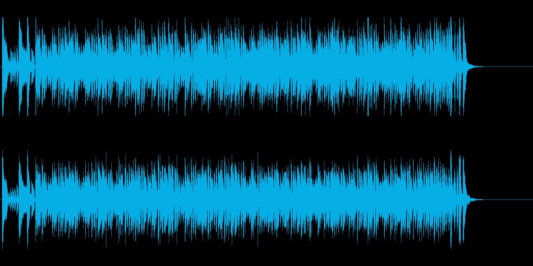 コミカルな雰囲気のポップの再生済みの波形