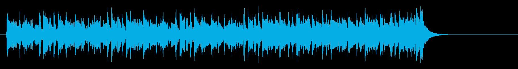 夜のピアノフュージョン(サビ)の再生済みの波形