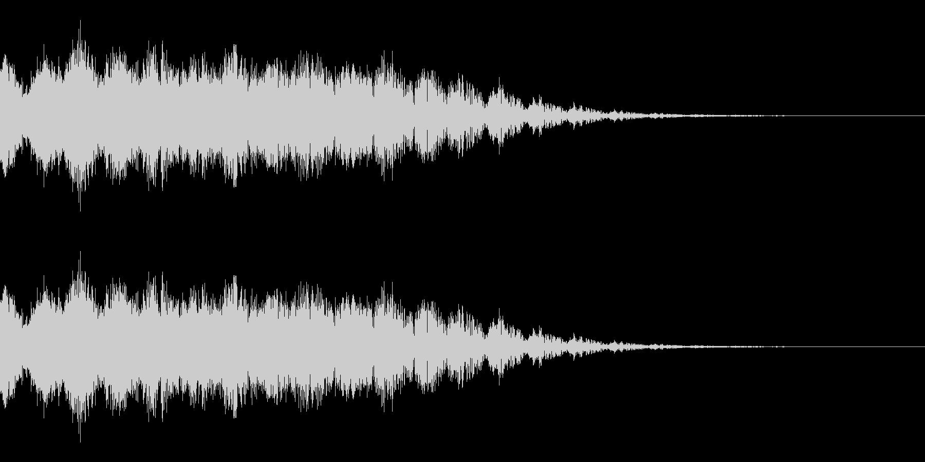 ビームを撃つ音(SF/宇宙/光線)の未再生の波形